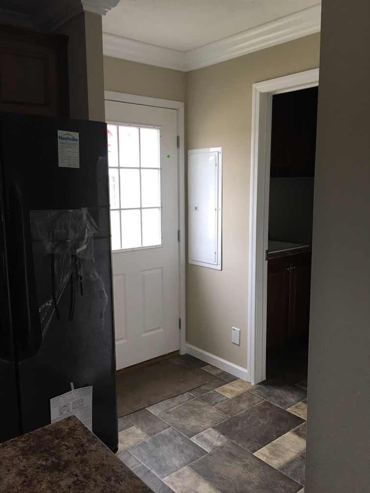 Back Door & Laundry Room