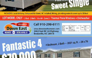 Down East Homes SUPER SALE