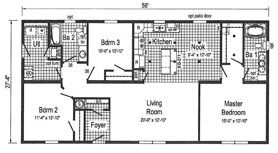 Blue Ridge Limited Floor Plan - R-Anell Homes