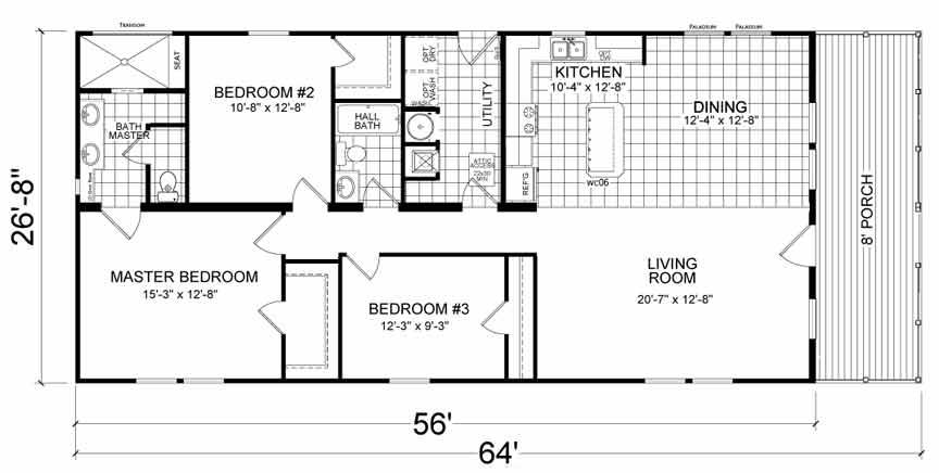 Floor Plan - Narrow Lot Modular