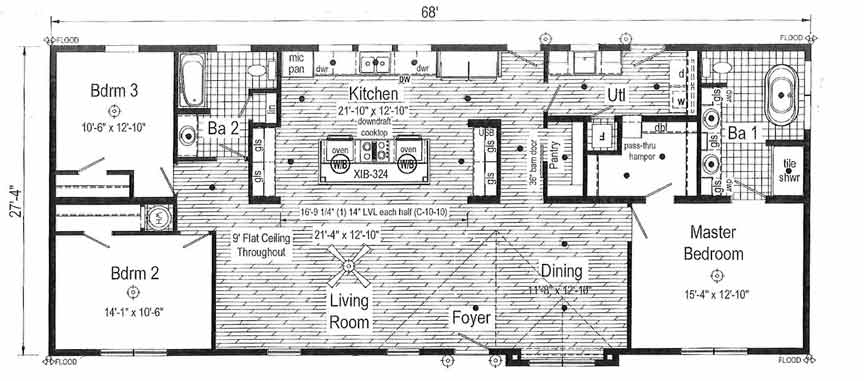 R-Anell Supreme Floor Plan - New Bern NC