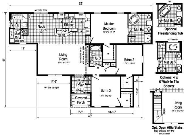Oakmont - R-Anell Homes floor plan - New Bern NC